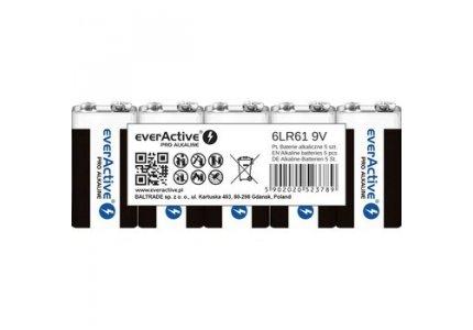 everActive 6LR61/9V Pro Alkaline 5 szt