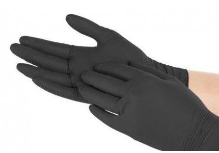 VIVA rękawice nitrylowe czarne PF r. M