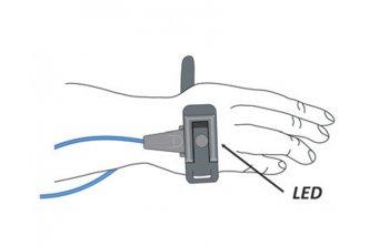 Sensor Y noworodkowy gumowy, wielokrotnego użytku do pulsoksymetru OXY-10 GIMA i Creative PC-60NW